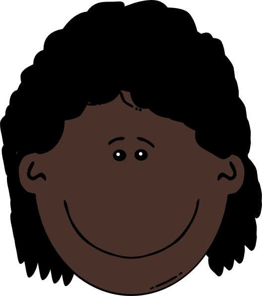 Young Happy Boy With Brown Wet Hair Is Smiling And: Dark Skin Young Woman Clip Art At Clker.com