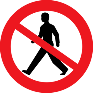 No Entry For Pedestrians Clip Art