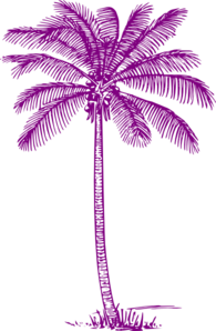 Plum Palm Tree Clip Art