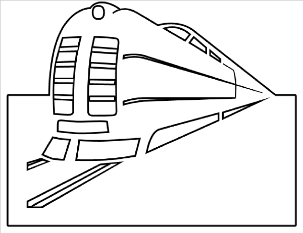Train Outline Clip Art At Clker.com
