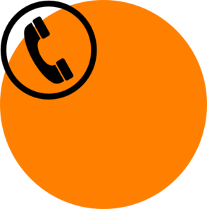Orange Telephone Clip Art