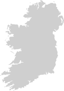Grey Filled Map Of Ireland - No/trans Clip Art