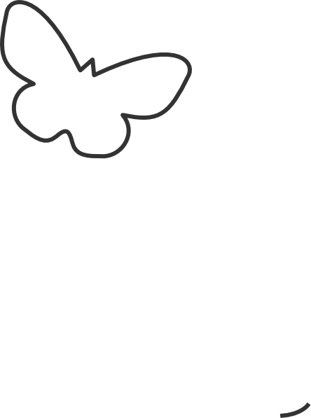 Butterfly Silhouette Clip Art at Clker.com - vector clip ...