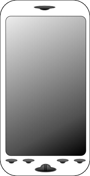 Smartphone Clip Art at Clker.com - vector clip art online ...