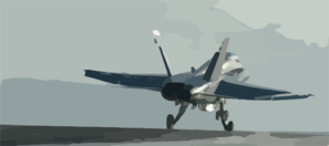 An F/a-18c Hornet Launches From The Flight Deck Clip Art