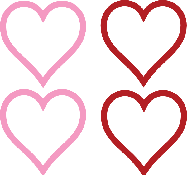 four hearts clip art at vector clip art online royalty free public domain. Black Bedroom Furniture Sets. Home Design Ideas