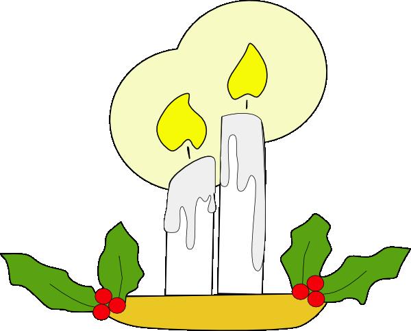 Christmas Candle Clip Art At Clker Com Vector Clip Art