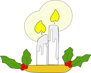 Christmas Candle Clip Art