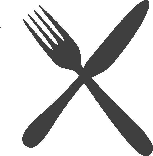 gray silverware clip art at clker com vector clip art clip art fork and spoon clip art fork knife and spoon