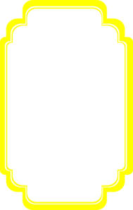 yellow curvy frame clip art - Yellow Picture Frame
