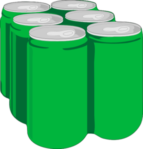 Beverage Cans W/o Shadow Clip Art