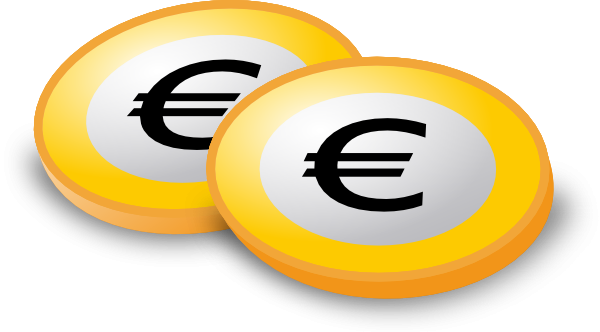 Euro Coins Clip Art At Clker Com Vector Clip Art Online Royalty