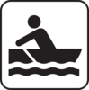 Reversed Rower Clip Art