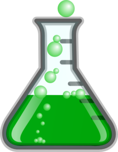 Greenflask/bubbles Clip Art