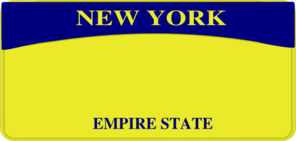 New York License Plate Clip Art