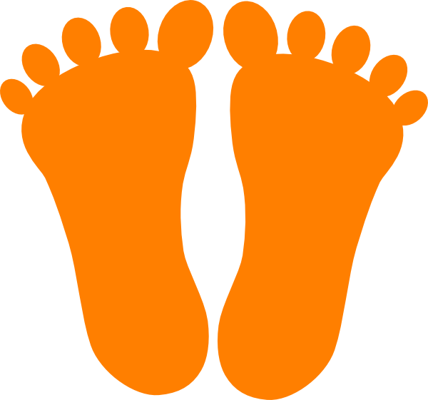 Orange Footprints Orange footprints clip art