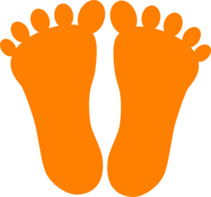 Orange Footprints Clip Art