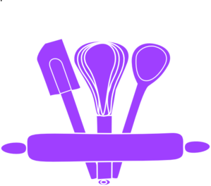 Purple Kitchen Utensils Clip Art