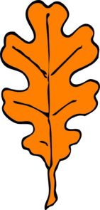 Orange Oak Leaf Clip Art
