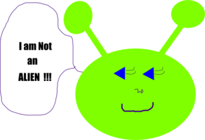 My Little Alien Clip Art