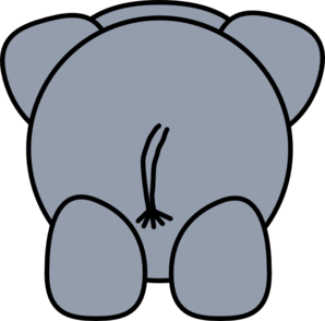 Elephant Rear Clip Art