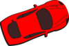 Red Car - Top View - 20 Clip Art