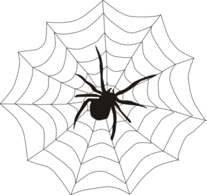 spider and web clip art at clker com vector clip art online rh clker com spider web clipart black and white halloween clipart spider web