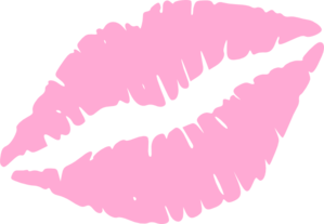 Light Pink Kiss Mark Clip Art