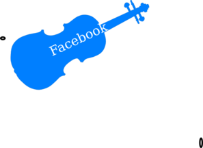 Facebook Violin  Clip Art