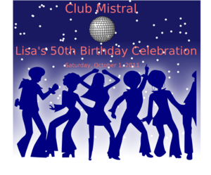Disco Party Clip Art