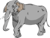 Black And White Elephant Clip Art