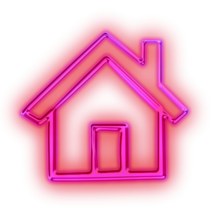 Glowing Purple Neon Icon Business Home Pink Image