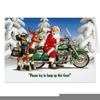 Motorcycle Christmas Clipart Image