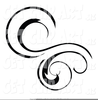 Swirly Hearts Clipart Image