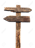 Wood Sign Post Clipart Image