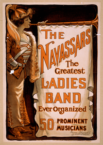 The Navassars, The Greatest Ladies Band Ever Organized 50 Prominent Musicians. Image