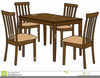Dining Room Table Clipart Image