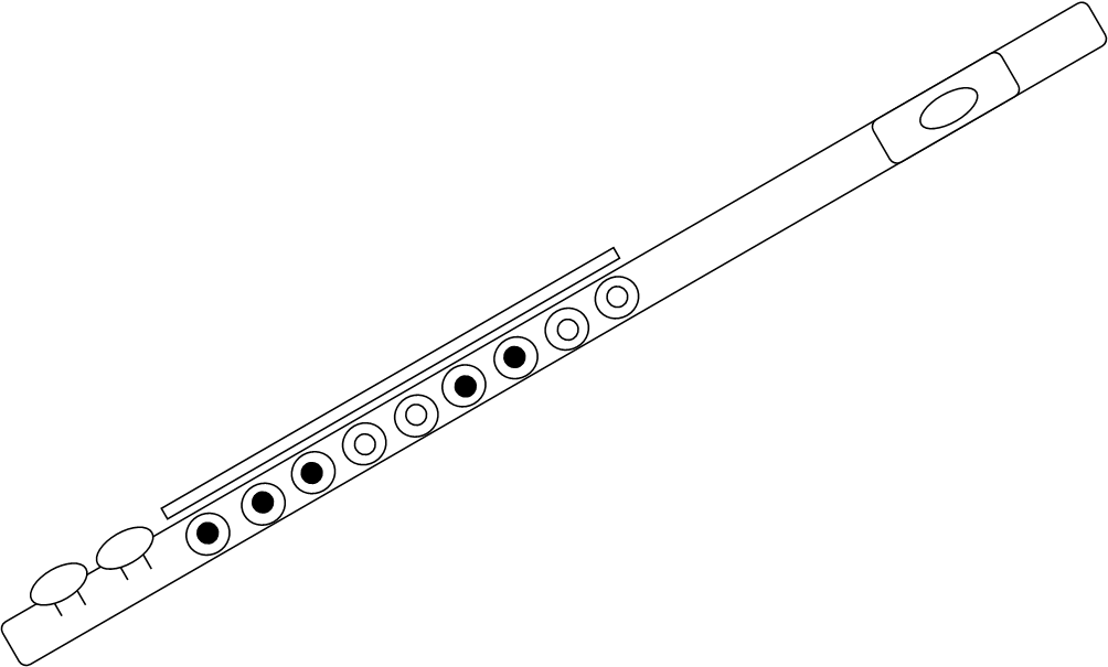 Flute image - vector clip art