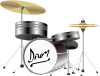 Drum Kit 3 Clip Art