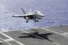 An F/a-18f Super Hornet Prepares To Make An Arrested Landing Image