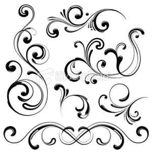 Stock Illustration Swirl Design Elements Image