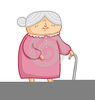 Animated Old Lady Clipart Image