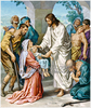 Jesus Healing The Sick Clipart Image