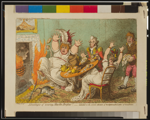 Advantages Of Wearing Muslin Dresses!  / Js. Gillray,inv: & Ft. Image