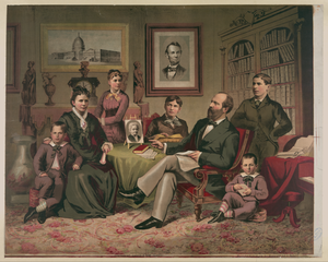 President Garfield And Family Image