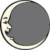 Man In The Moon Clip Art