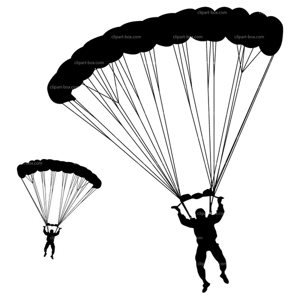Free Clipart Military Parachuting   Free Images at Clker ...