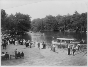 Bronx Lake From New York Zoological Park, 183 D. St. And Southern Blvd., New York City: Boat Landing Image