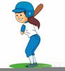 Girls Playing Sports Clipart Image