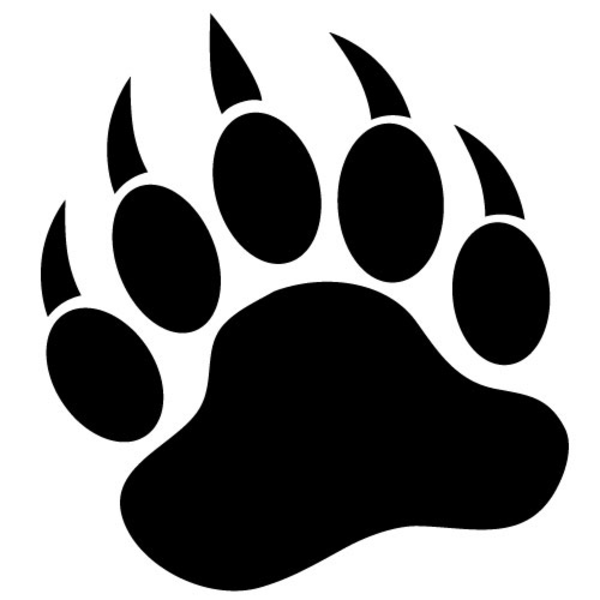 Bearpaw x free images at vector clip art for Bear footprints template